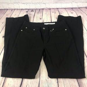 DKNY Jeans Wide Leg Black Stretch Pants Size 10